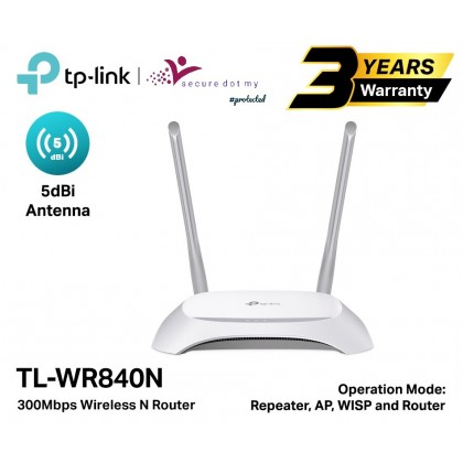 TP-LINK Wireless N300 UniFi WiFi Router TL-WR840N Access Point / Repeater /WISP